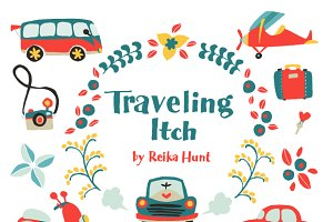 Traveling Itch - Vector Clip Art Set