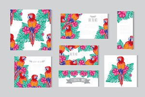 Tropical Floral Cards