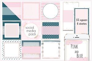 Social Media/Instagram/Pink Blue