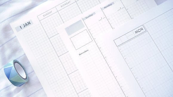 Daily, Weekly, Monthly - Hobonichi in Stationery Templates - product preview 6