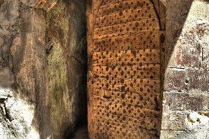 Old door half-open (Egypt)