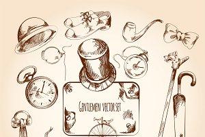 Gentleman sketch set