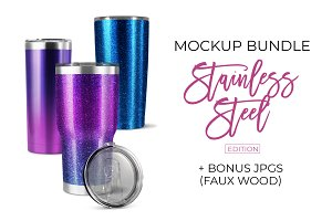 Stainless Tumbler Mockup Bundle