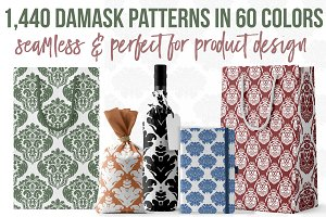 1,440 Damask Patterns in 60 Colors