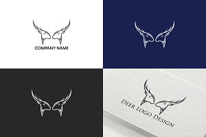 Deer logo design | Fre UPDATE