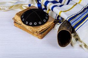 Kippah Talit Hebrew Torah, shofar
