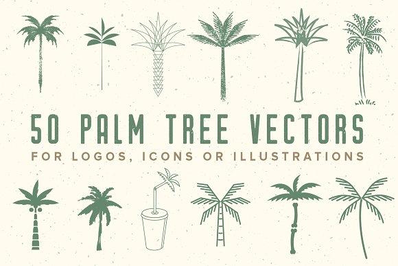 50 Palm Tree Vector Logos & Icons
