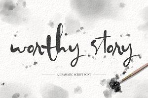 Worthy Story Script Font
