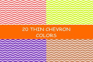 20 Thin Chevron Patterns