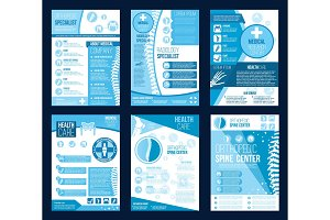 Orthopedics health center vector brochures