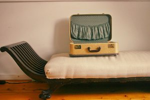 Vintage Suitcase on Chaise