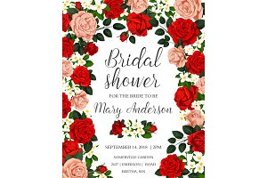 Bridal shower colorful template