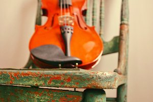 Fiddle on Chair
