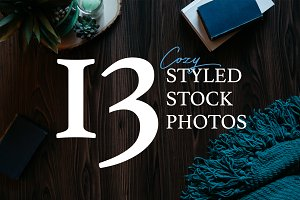 Brown & Blue Book Stock Photo Bundle