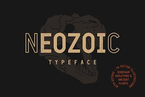 Neozoic Font + Extras (20% Off)