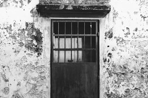 Rustic door and exterior of a house