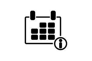 Web line icon. Calendar black