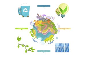 Ecology Problems and Real Solutions Illustration