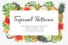 Tropical Patterns + ClipArt