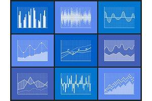 Charts Representation of Info Vector Illustration