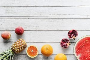 Assortment of tropical citrus fruits