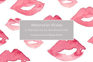 Watercolor Kisses