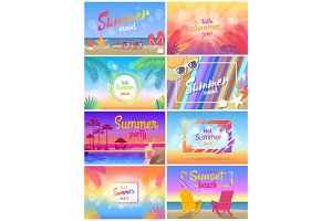 Summer Mood, Beach Party Time, Hello Sunny Day