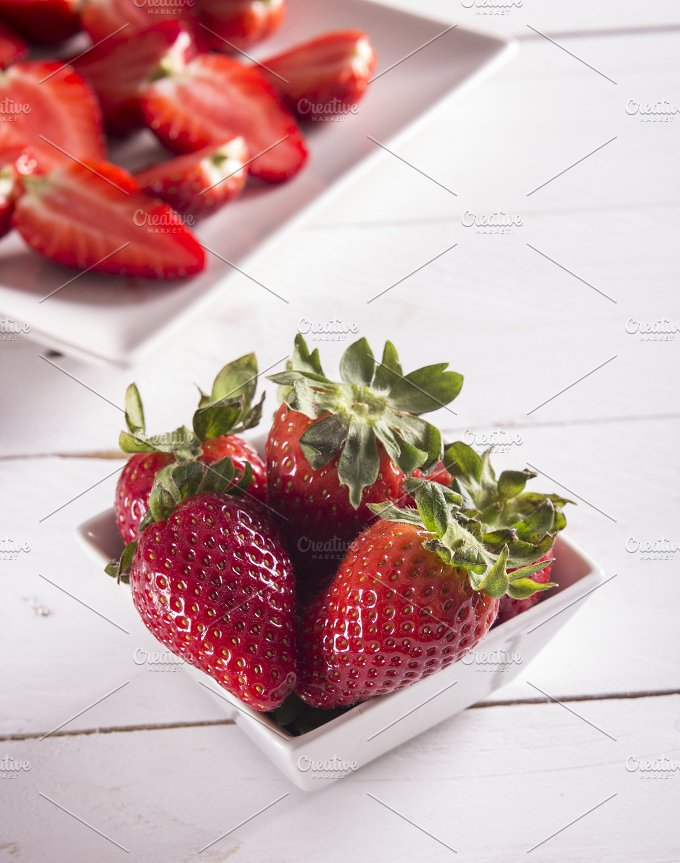 Berry. Strawberry. Group of strawber - Food & Drink