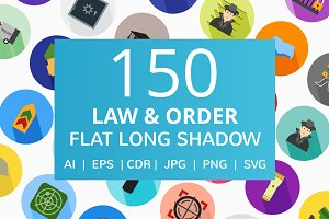 150 Law & Order Flat Icons