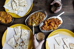 couple enjoying Rajasthani cuisine