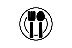 icon. Cutlery, Spoon and fork