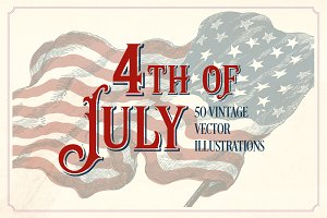 Vintage 4th of July illustrations