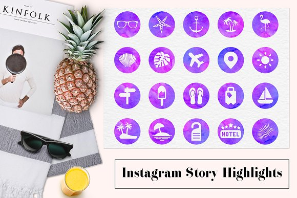 Instagram Story Highlight Icons in Instagram Templates