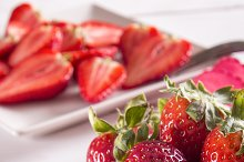 Berry. Strawberry. Group of strawber