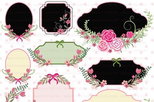 Floral Frames Clipart AMB-855