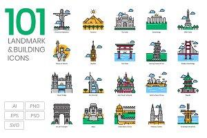 101 Landmark & Building Icons