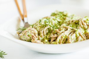 Soba Noodles with green sauce