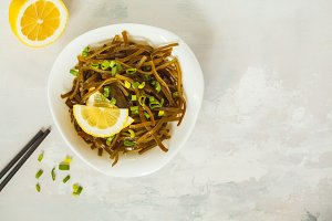 Sea kale kelp salad