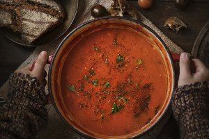 Tomato sauce food photography recipe