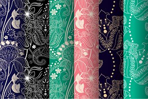 6 Indian Seamless Patterns