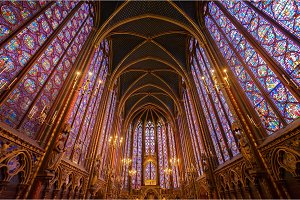 Stained glass windows of Saint Chapelle