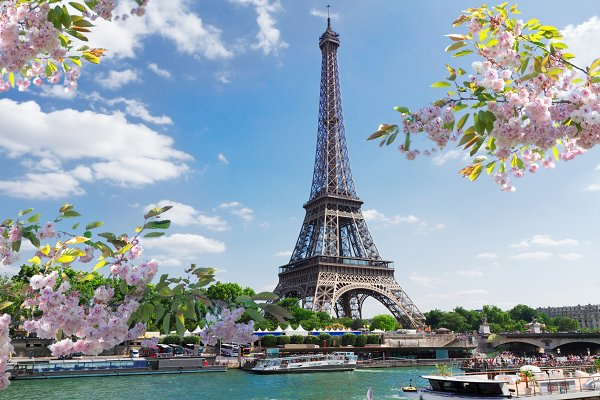 Stock Photos: Neirfy - eiffel tour over Seine river