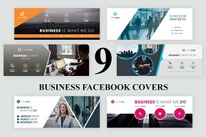 9 Business Facebook Covers