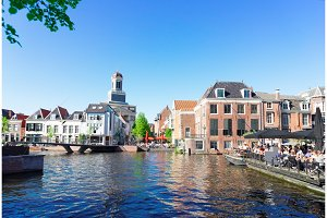 Leiden canals in Netherlands