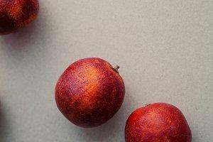 Ripe red oranges