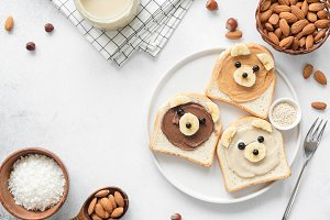 Kids breakfast, funny food art