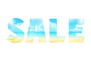 SUMMER SALE Illustration in the double exposure technique