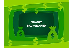 Finance 3D abstract background with paper cut shapes