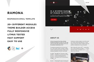 Ramona – Email template + Builder