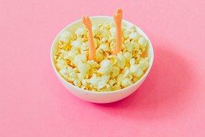 Hands in Popcorn